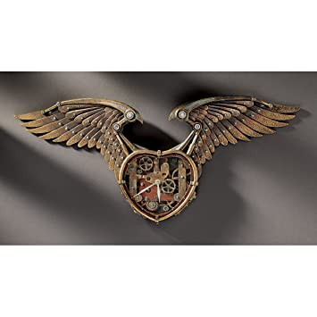 Amazon.com : Design Toscano CL6165 Steampunk Winged Heart ...