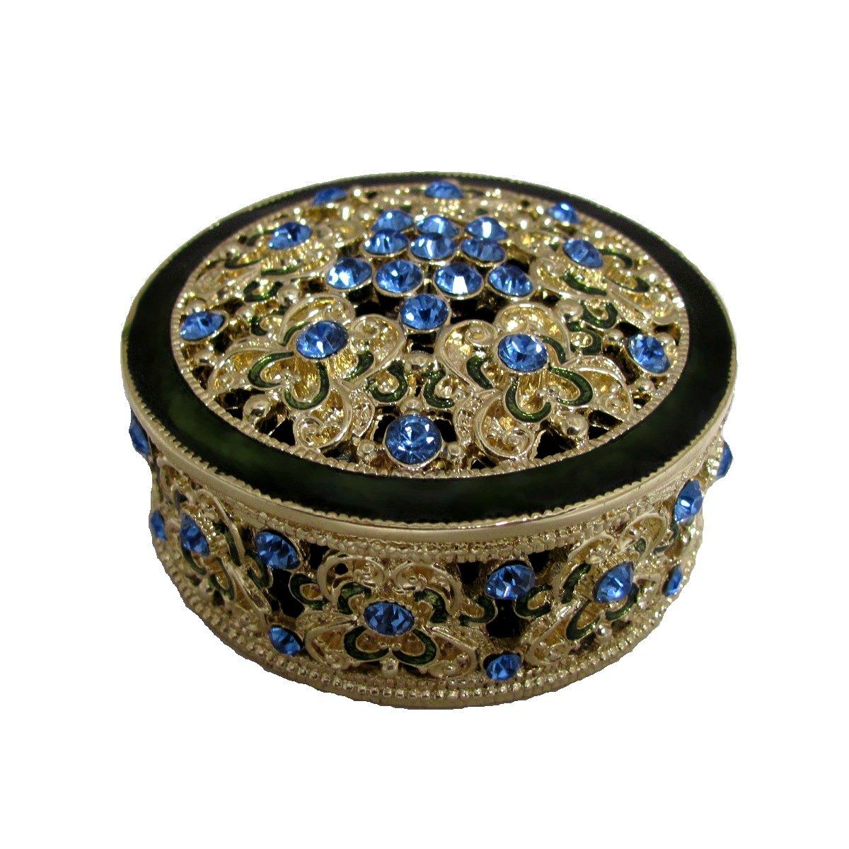 Swarovski Crystal Blue Jewelry Box