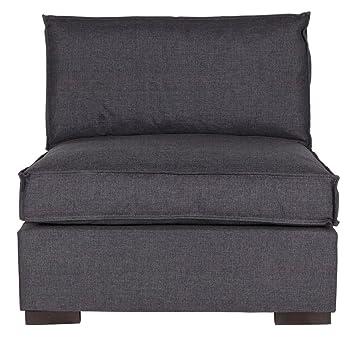 Elément assise anthracite, H 85 x L 90 x P 94 cm - PEGANE -