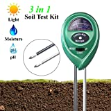 Soil pH Meter, XIYIXIFI 3 in 1 Soil Test Kit for Moisture, Light & pH for Garden, Lawn, Farm, Plants, Herbs and Indoor & Outdoor Plants Soil Tester, Accurate & Easy Read Indicator (No Battery Needed)