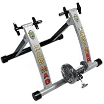 Portable Indoor Magnetic RAD Cycle Products Work Out Bicycle Trainer