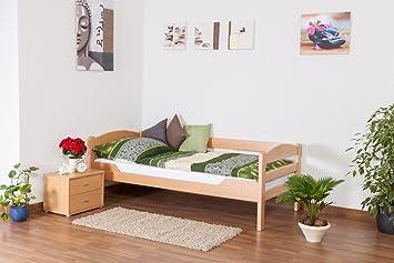 "Tagesbett ""Easy Sleep"" K1/n/s, Buche Vollholz massiv Natur - Maße: 90 x 200 cm"