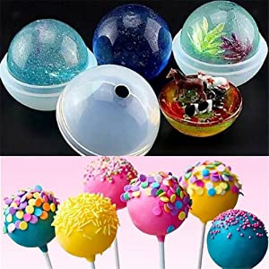 Homemade Soap Bath Bomb Jewelry Casting Molds Resin Epoxy Ice Ball Molds Candle Wax 5Pcs Sphere Round Silicone Mold for DIY Craft Making Jewelry Making