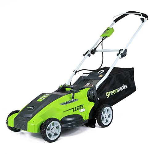 4. GreenWorks 25142 10 Amp Corded 16-Inch Lawn Mower
