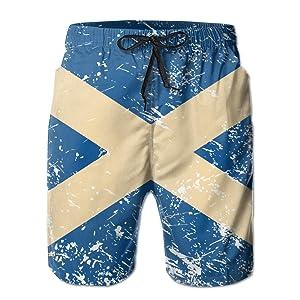 Scotland Retro Flag Swim Trunks