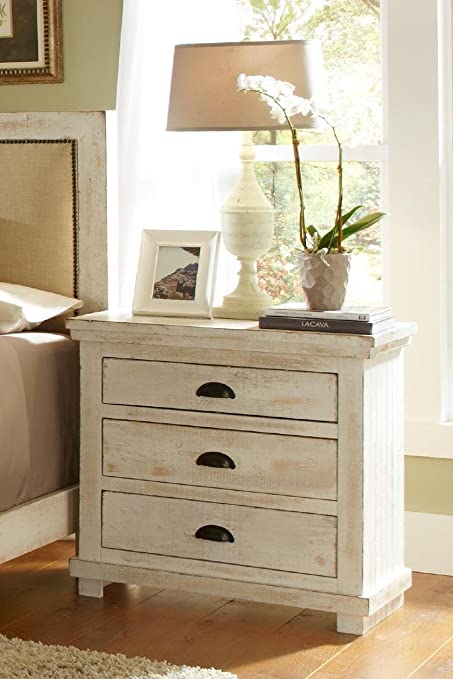 Contemporary Nightstand with 3 Drawers