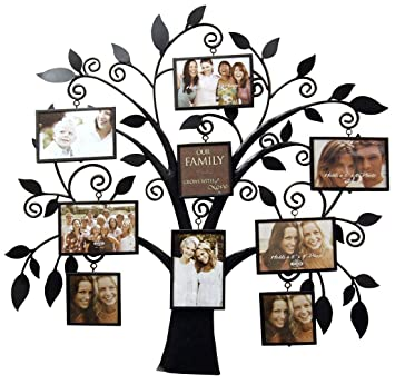 new view family tree metal collage frame