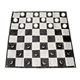 Get Out! Giant Checkers Set Outdoor Games for Family Lawn Games - Large Checkers Pieces & 5x5ft Giant Checker Board (Tamaño: Checkers Set + 5x5 Foot Mat)