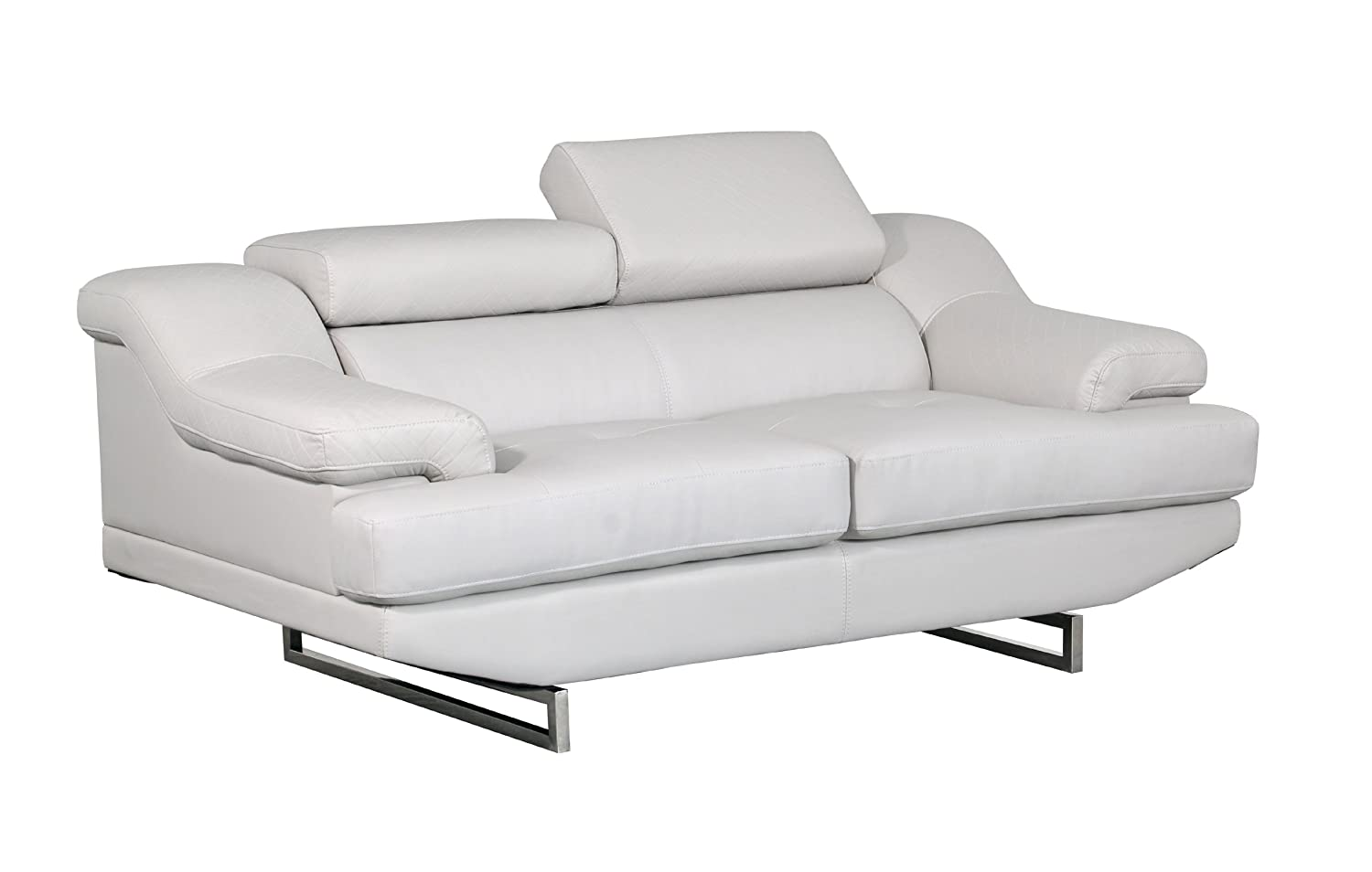 Global Furniture Natalie Loveseat - Light Grey and Wagner