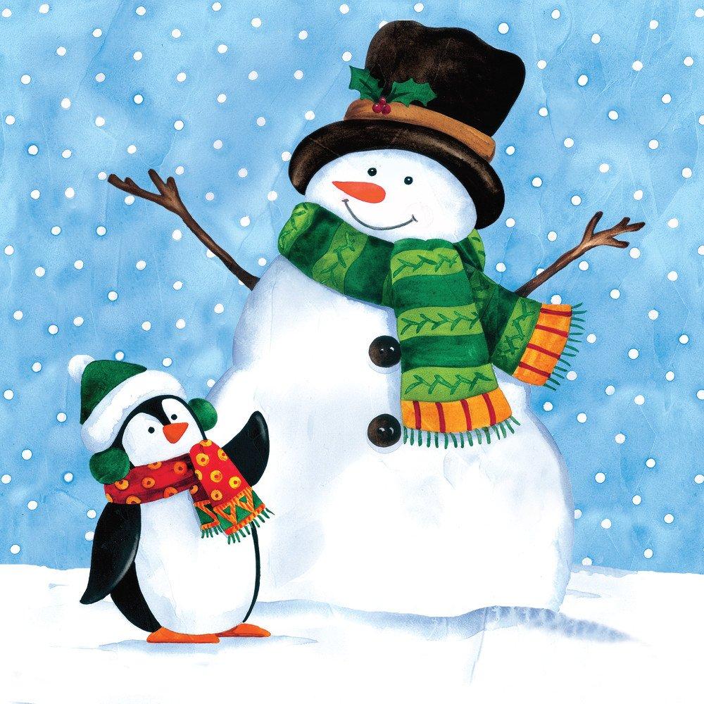 snowman christmas paper napkins christmas wikii. Black Bedroom Furniture Sets. Home Design Ideas