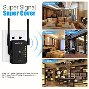 WiFi Extenders,WiFi Range Booster,Wireless Signal Repeater/Access Point/Router with WPS Function,Whole Home WiFi Coverage 2019 Updated (Color: black, Tamaño: Small)