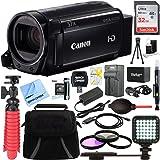 Canon VIXIA HF R700 Full HD Black Camcorder + 32GB Memory Card + BP-727 Battery Kit + Accessory Bundle