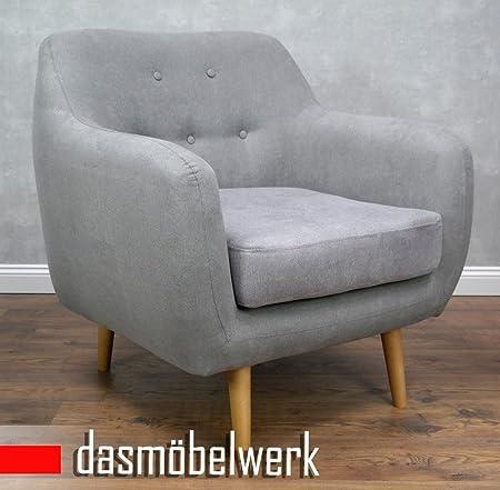 dasmöbelwerk Sessel Sitzmöbel Polstermöbel Sofa Skandinavisches Retro Design LAGOS Grau