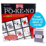 Bicycle Po-Ke-No with Deck of Brybelly Playing Cards, Red (Tamaño: 1 PACK)