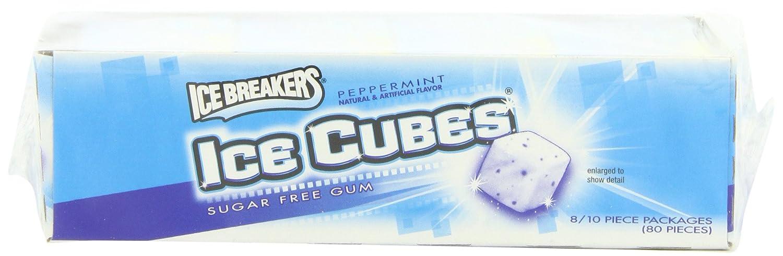 Amazon.com : Ice Breakers Ice Cubes Sugar Free Gum, Peppermint, 10 ...
