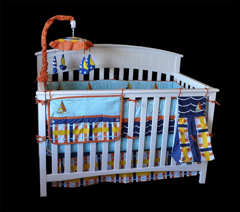 DK Leigh Sailboat Crib Bedding