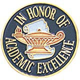 Academic Excellence Lapel Pin (Color: Gold, blue, white, Tamaño: 7/8