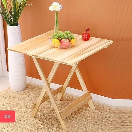GAOJIAN Table pliante en bois pur massif Poplar Tables en bois Etude Table carrée Tables de salon à la maison