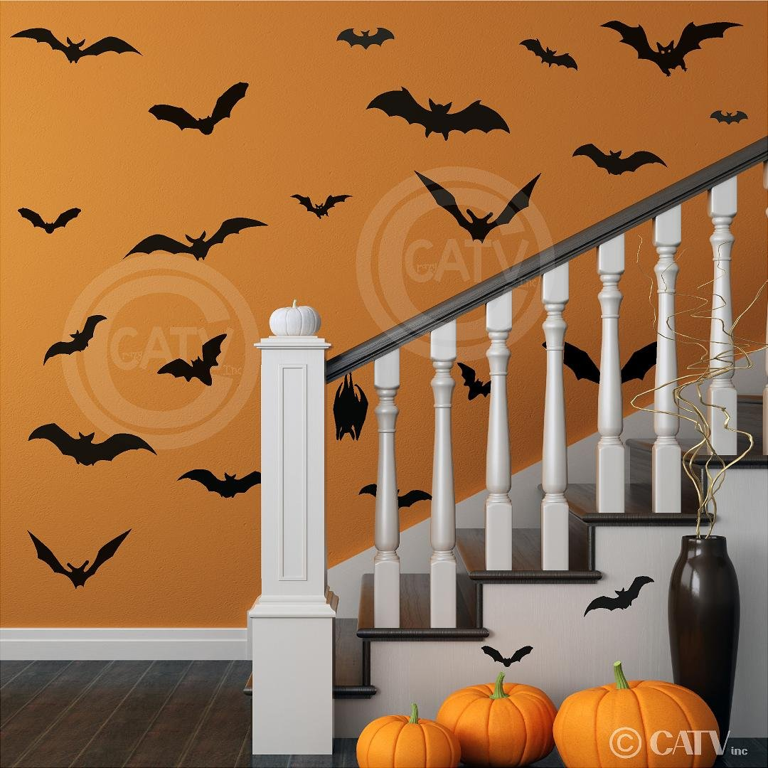 halloween gifts gifts library halloween bats set of 25 vinyl lettering decal home decor wall art sticker