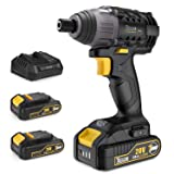 Impact Driver with 2pcs 2.0Ah Lithium Ion Batteries, 1/4