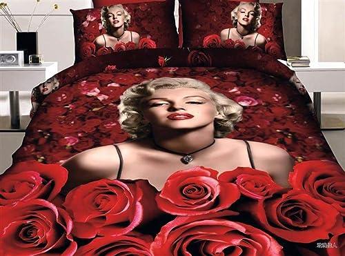 Marilyn Monroe Rose 3D Bed set