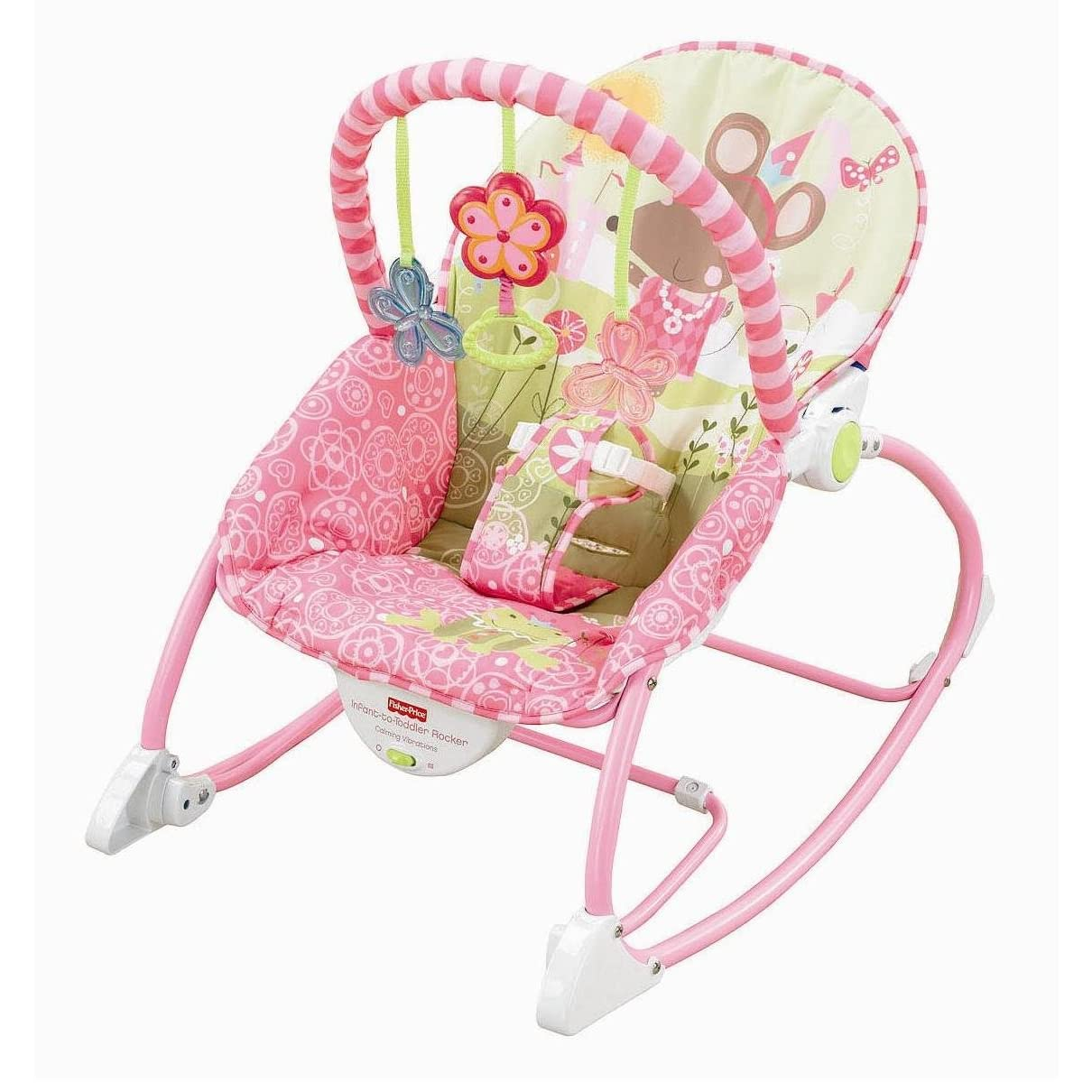 Fisher Price Infant To Toddler Rocker Pink Mouse W2583
