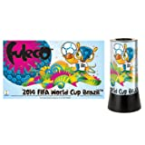 World Cup FIFA 2014 Brazil Souvenir FULECO Rotating Lamp (Color: Multi-colored)