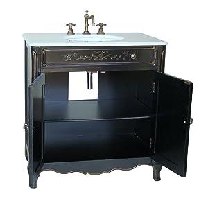 26 Three Drawers Petite Clover Bathroom Sink Vanity Model # 14121