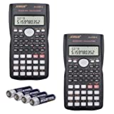 SUNYANG 2 Packs, 2-Line Engineering Scientific Calculator Function Calculator for Student and Teacher