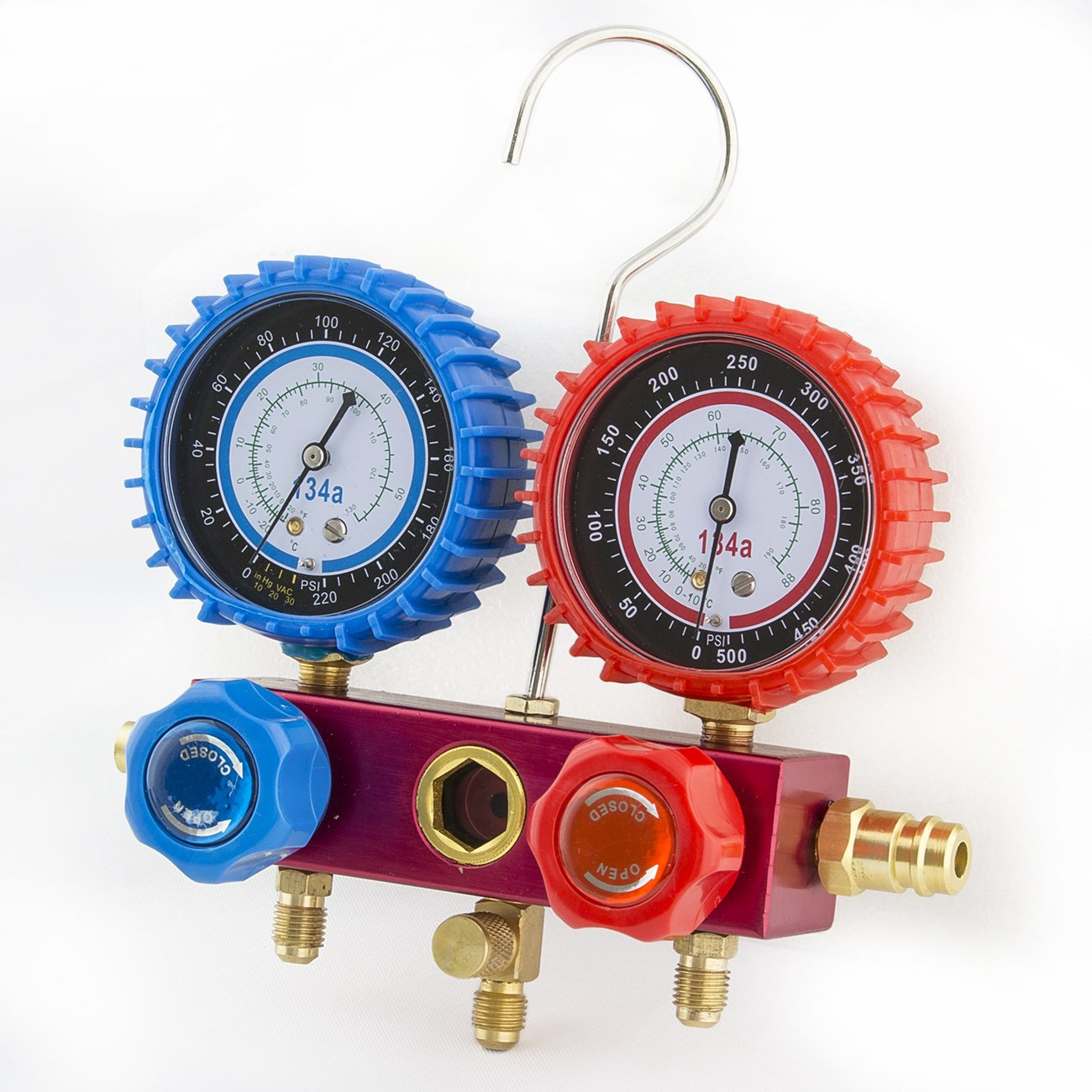how to use ac manifold gauge set