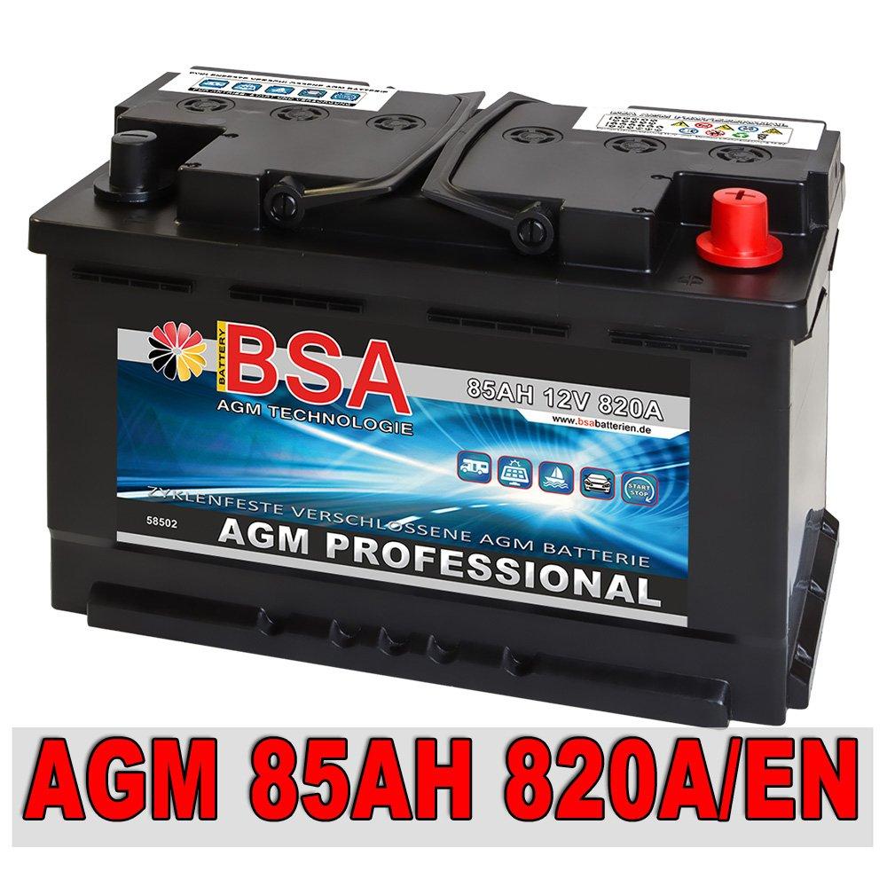 AGM Batterie Autobatterie 85AH AGM Gel Start Stop Audi BMW Mercedes VW ersetzt 80AH  BaumarktKundenberichte und weitere Informationen