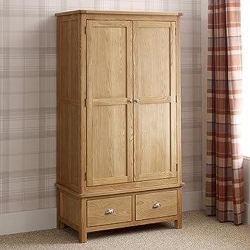 Kent Oak 2 Door 2 Drawer Double Wardrobe