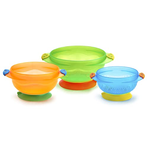 Munchkin Stay Put Suction Baby Food Bowl 3 Count