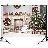 DePhoto 9x6Ft Seamless Christmas Theme Vinyl Photography Backdrop Photo Background Studio Prop SDJ005KB (Color: SDJ005K, Tamaño: 9x6ft)