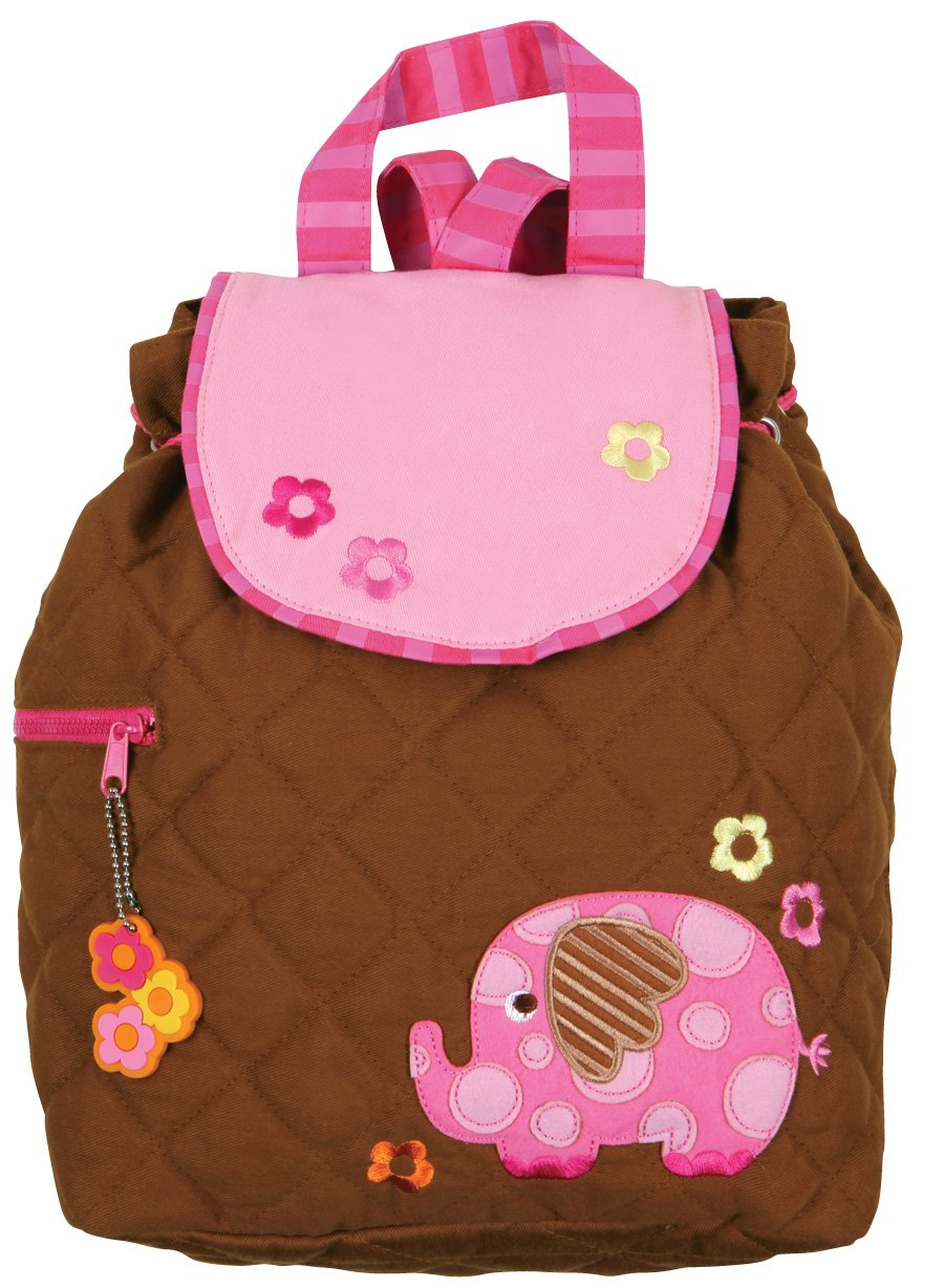 Stephen Joseph Girls Elephant Quilted Backpack