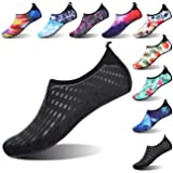 FEETCITY Mens Fitness Shoes Womens Water Shoe Sneakers Quick-Dry Water Footwear for YOG Print Black XL(W:11-12,M:9.5-10)
