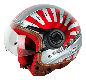 NITRO 187116XL66 Casque Moto X-548 Japan Rouge