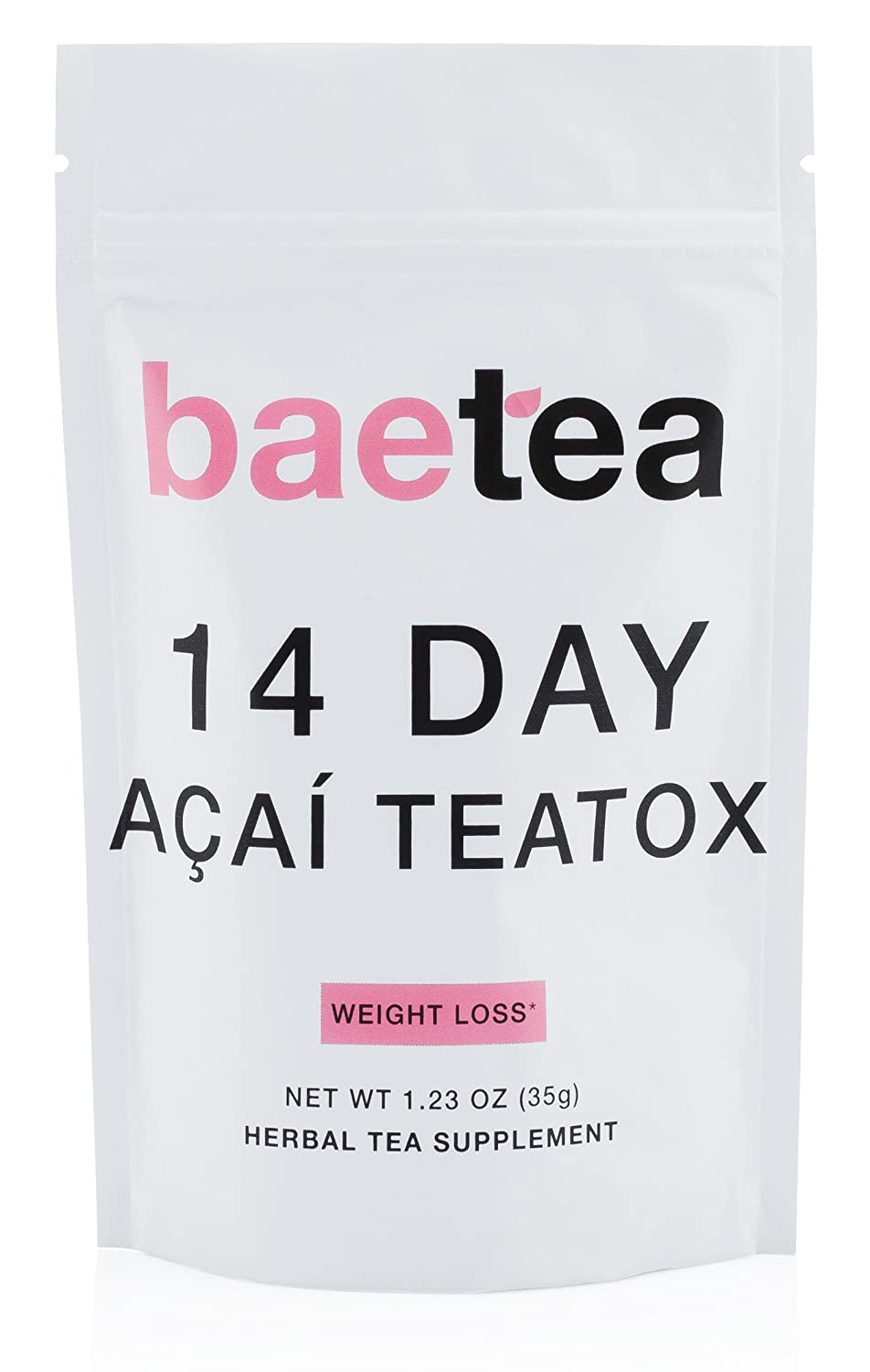 Baetea Acai Weight Loss Tea: Detox, Body Cleanse, Reduce Bloating, & Appetite Suppressant, 14 Day Acai Teatox, with Acai Berry, Goji Berry, Hibiscus Flower, Ultimate Way to Calm and Cleanse Your Body