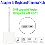 MaximalPower Lightning to USB 3.0 Female Adapter Cable With USB Power Interface Data Sync Charge Cable For iPhone iPad, No App Required (Adapter to Keyboard/Camera/Hub)