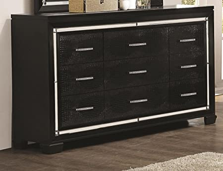 8-Drawer Dresser in Black Finish
