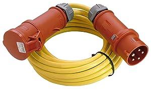 as  Schwabe 60718 CEEVerlängerung 400V / 16A, 25m K35 ATN07V3V3F 5G2,5 mit Phasenwendestecker, gelb, IP44 Aussenbereich  BaumarktRezension