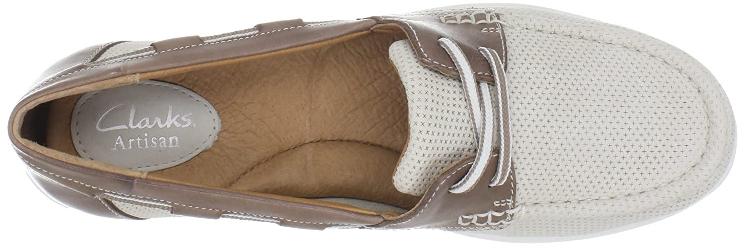 Amazon.com: Clarks Women's Cliffrose Sail Boat Shoe: Loafer Flats ...
