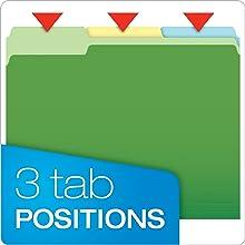 Pendaflex Two-Tone Color File Folders, Letter Size, 1/3 Cut, Assorted Colors (152 1/3 ASST)