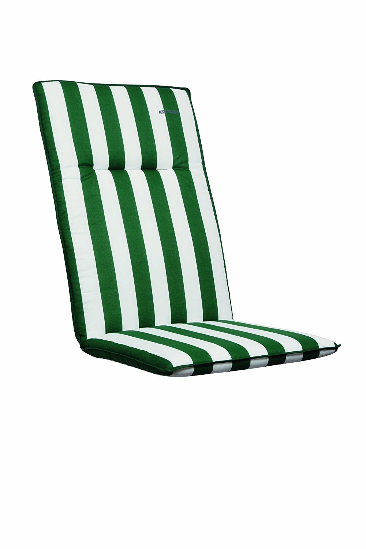 Kettler 0308582-8715 Auflage für Landhaus Sessel 48 x 48 x 4 cm, Blockstreifen grün-weiß