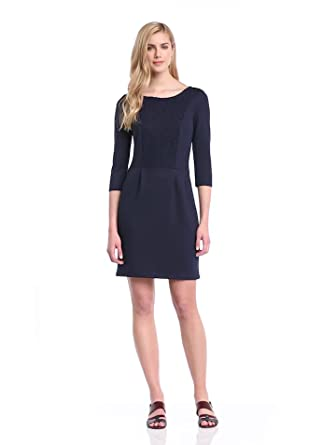ESPRIT Women's 034EE1E008 3/4 Sleeve Dress Cinder Blue Size 16 (Manufacturer Size:X-Large)