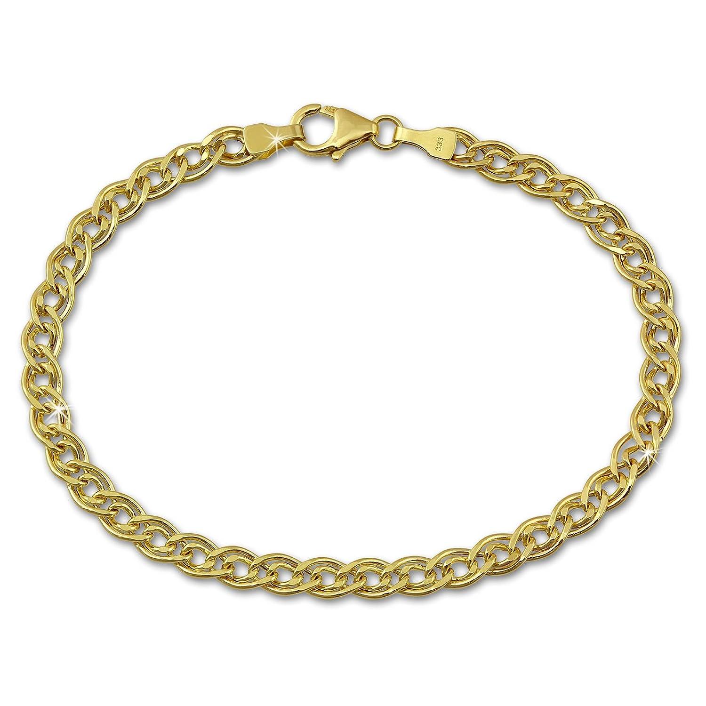 SilberDream Armband aus 333 Gold für Damen – Zwillingspanzer – 5mm – Gelbgold 19cm – 8 Karat – GDA0119Y online bestellen