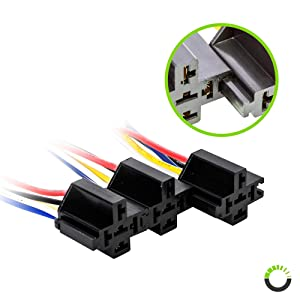 ONLINE LED STORE 40//30 Amp Waterproof Relay Switch Harness Set 12V DC 5-Pin