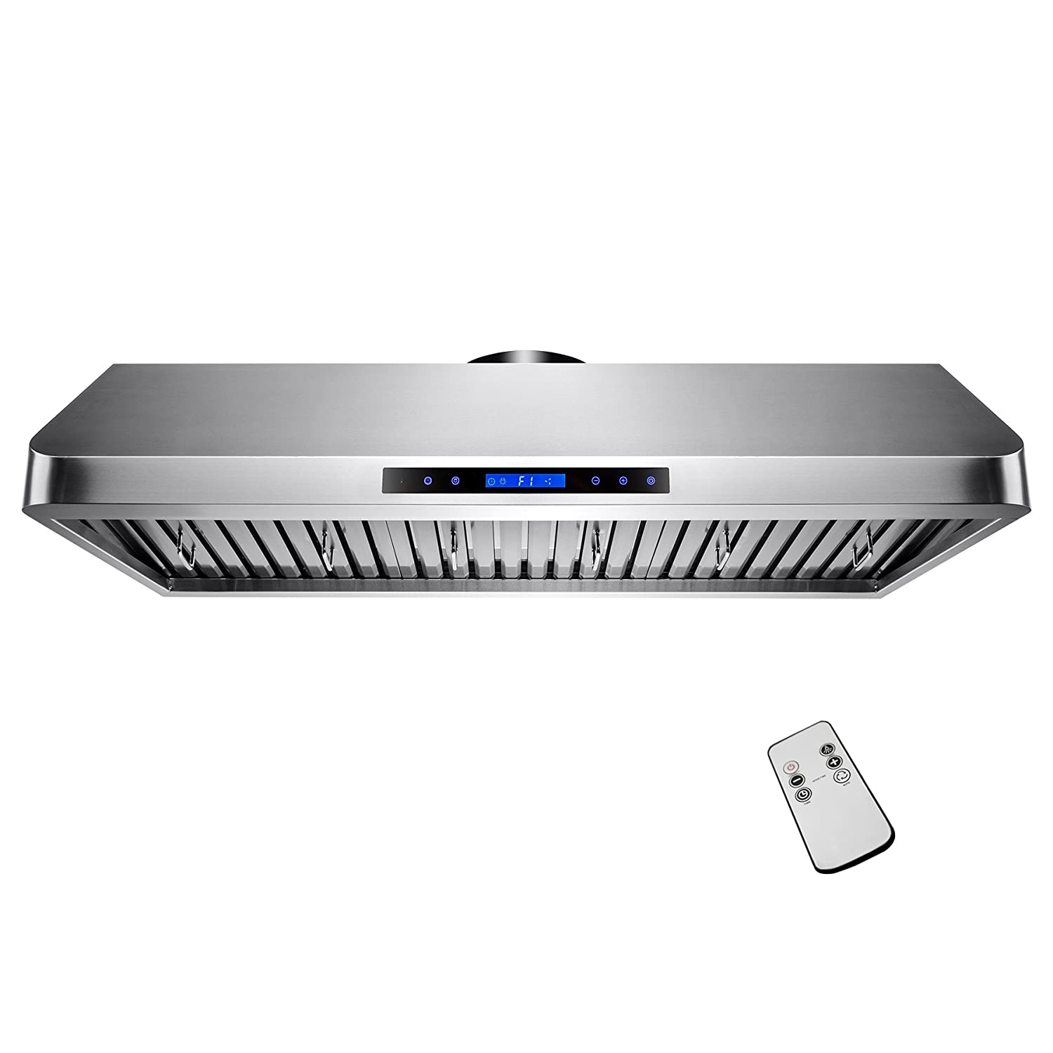 "AKDY® 48"" Under Cabinet 1200 CFM Kitchen Cooking Vent LED Touch Control Stainless Steel Range Hood"