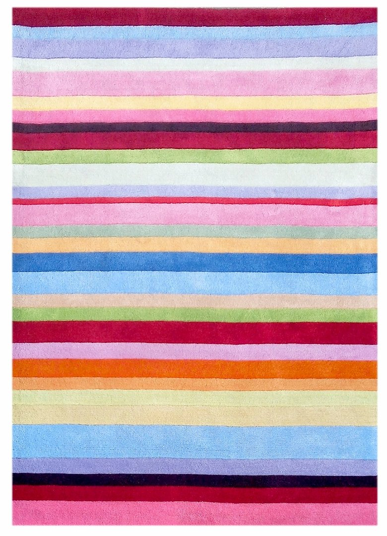 Kinderteppich Happy Rugs STRIPES bunt 120x180cm günstig