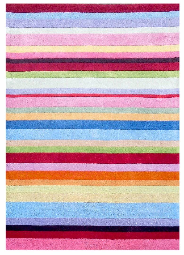 Kinderteppich Happy Rugs STRIPES bunt 160x230cm günstig bestellen